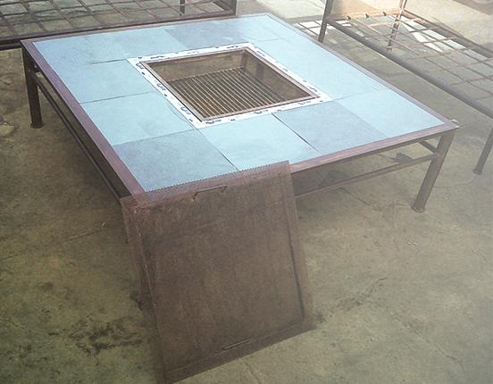 Mesa de centro brasero y parrilla valor http for Reposeras para terrazas