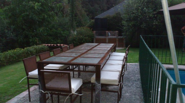 Comedor cubierta piedra pizarra iva http for Comedores de terraza baratos