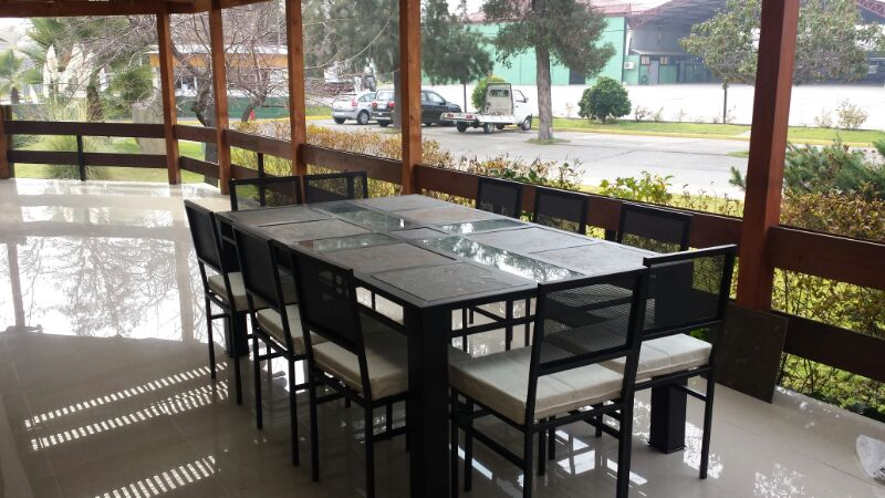Comedor 10 personas en fierro muebles y terrazas 560 for Comedor 10 personas