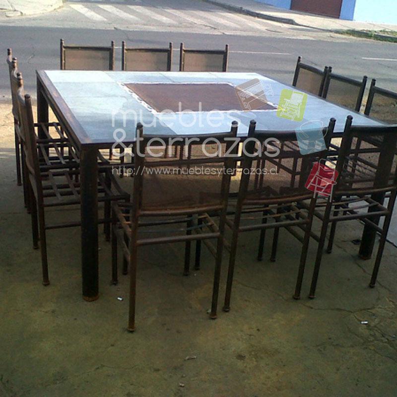 Comedor cuadrado malla al centro iva http for Comedor 12 personas chile