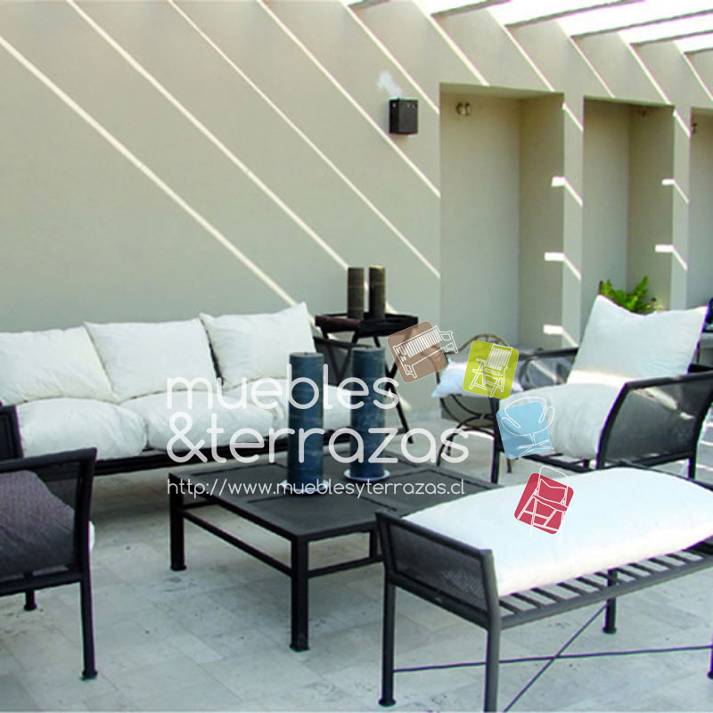 Living malla curvo 3 cuerpos iva http www for Muebles de terraza fierro