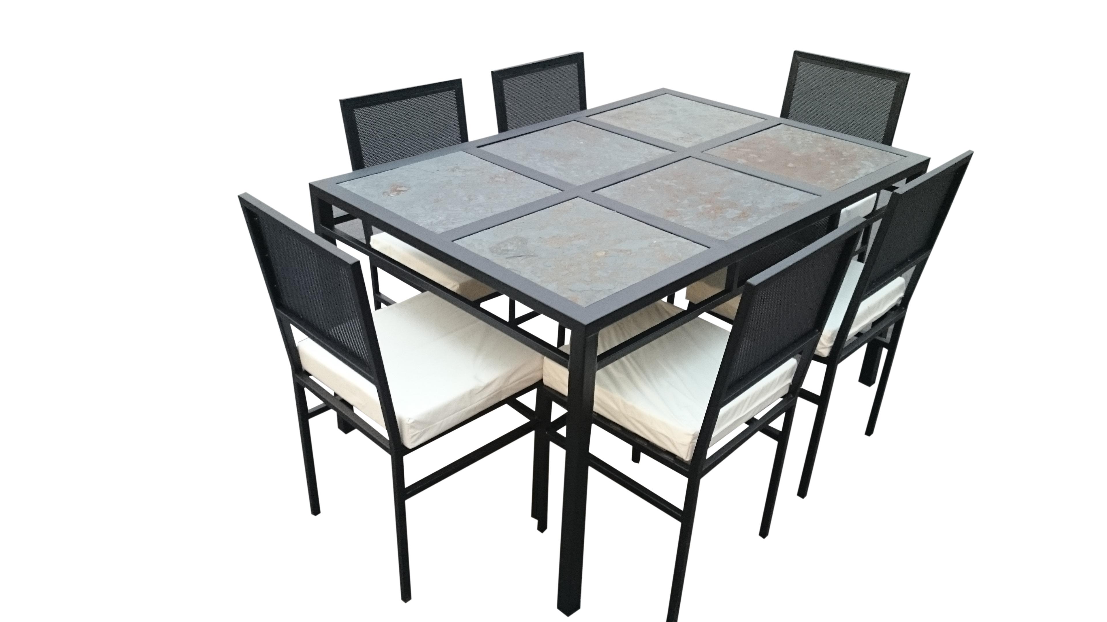Comedor 6 personas fierro muebles y terrazas for Muebles terraza