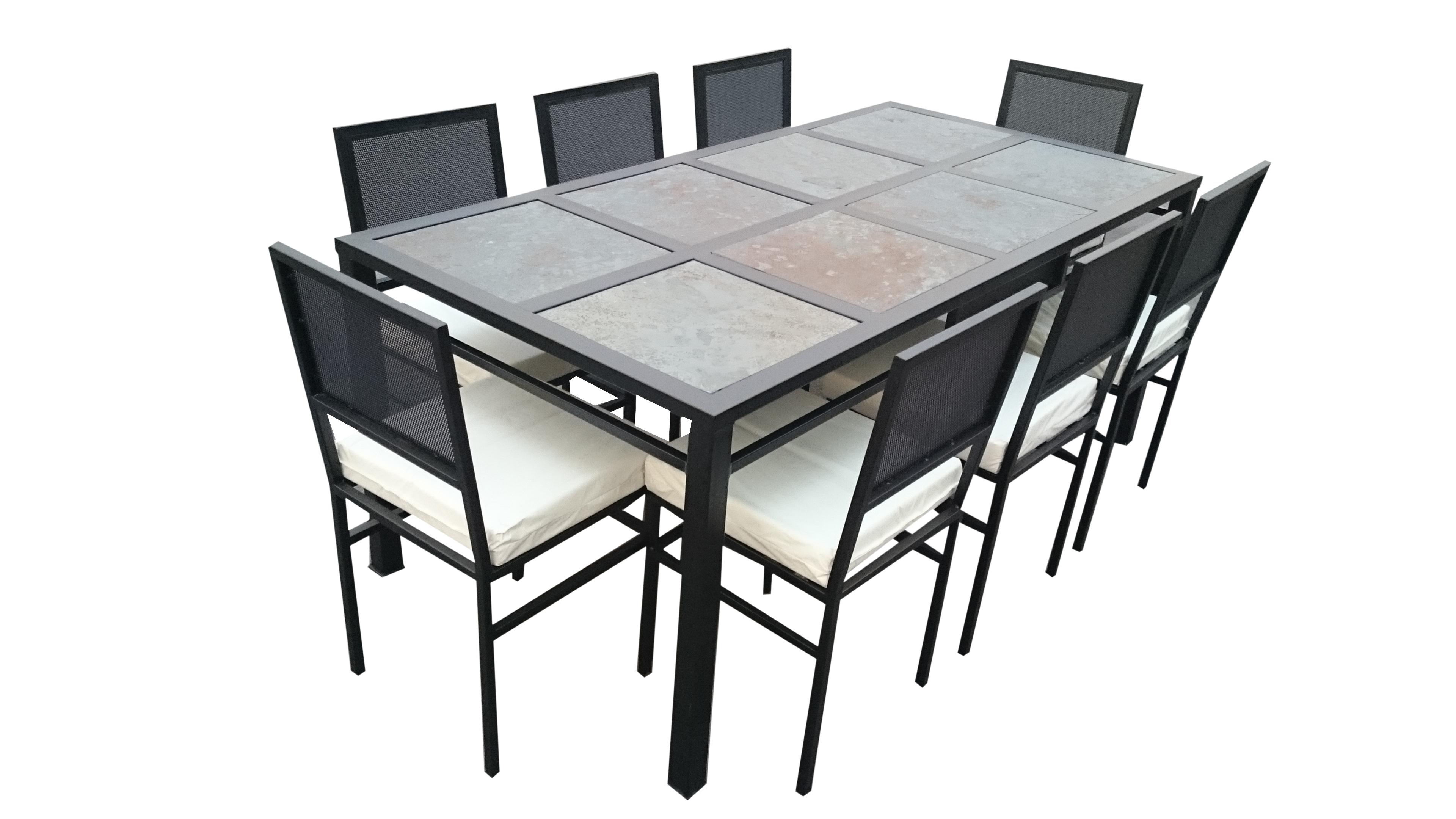 Comedor 8 personas fierro muebles y terrazas for Comedor para terraza