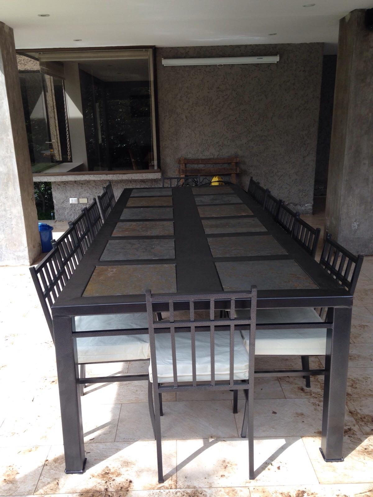 Comedor 14 personas fierro muebles y terrazas en venta en for Muebles terraza fierro