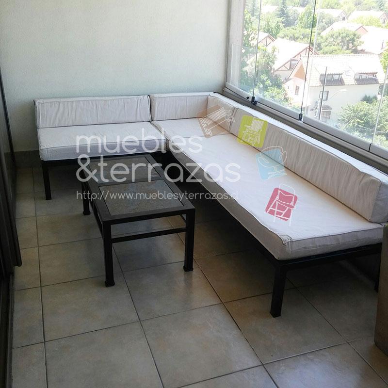 Living modular respaldo bajo iva for Liquidacion muebles terraza