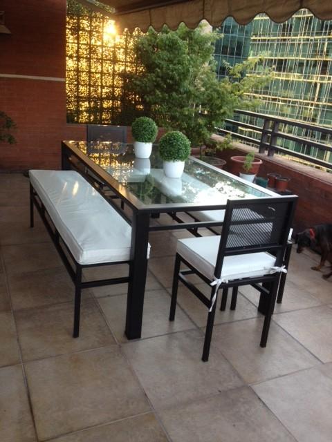 Comedor 2 sillas y 2 banquetas iva http www for Comedores 8 sillas chile