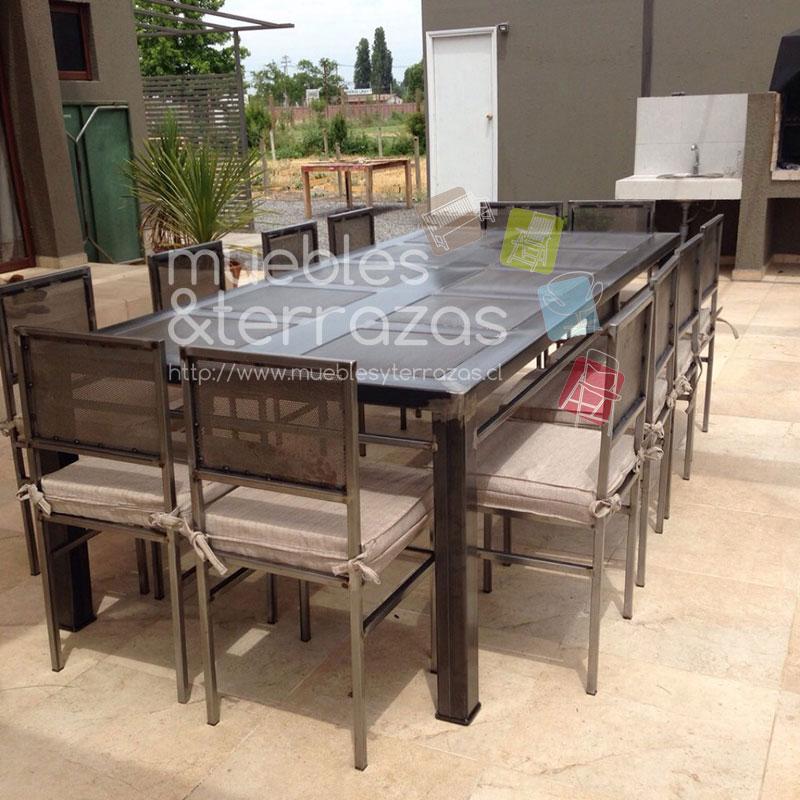 Comedor 2 60 1 20 metal fierro cubierta cuadros malla para for Comedor 2 personas
